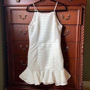 Bardot Textured White Dress